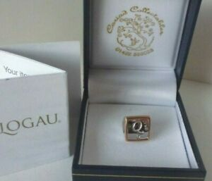 Clogau Gold Silver & 9ct Rose Gold Letter Initial Q Bead Charm RRP £109