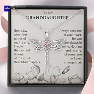 To My Granddaughter Necklace, Birthday Gift For Granddaughter From Grandparents