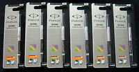 6 x Parker Vector Frontier Rollerball Pen Refills Ultra Fine 0.5mm Black Ink New