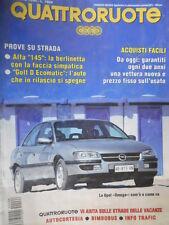 Quattroruote 466 1994 Alfa145:la berlinetta con la faccia simpatica-inserto