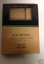 Revlon Age Defying Makeup & Concealer Compact NATURAL TAN NEW.