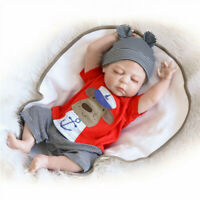 "49CM Reborn Baby Boy Doll Full Silicone Body Sleeping Boy Doll Gift 20"" Toys"