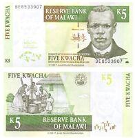 Malawi 5 Kwacha 2005 P-36c Banknotes UNC