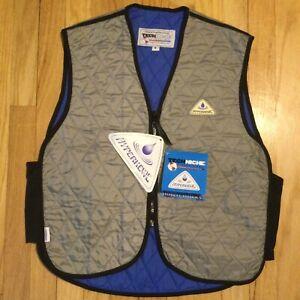 New Techniche Hyperkewl deluxe evaporative cooling vest M zip up work wear