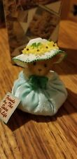 Cherished Teddies Teal Spring Bonnet #873349 - Friends Are The Spice Of Life