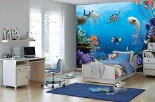 Finding Dory Disney Wall Mural photo Wallpaper for kids room 368x254cm Blue