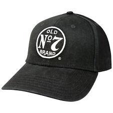 Jack Daniels Old No. 7 Cotton Twill Black Hat Black
