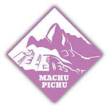 """Machu Pichu Travel Peru Car Bumper Sticker Decal 5"""" x 5"""""""