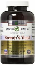 Amazing Nutrition Brewers Yeast Tablets - 7.5 Grain Capsule 500mg 240 Tablets...