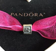 Authentic Pandora Letter R Sterling Silver Initial Charm #790323 Bead Alphabet