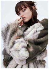 Zara Faux Fur Outer Shell Grey Coats, Jackets & Waistcoats for Women