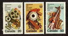 Canada--#684-86 MNH--1976 Montreal Summer Olympics