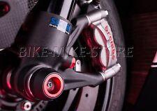 LIGHTECH Crash pad Sturzpad für Radachse 2 Stück ROT Ducati Monster 1100 11-13