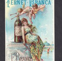 Chicago Fernet-Branca Bitters 1893 Exposition Cherub bottle Victorian Trade Card