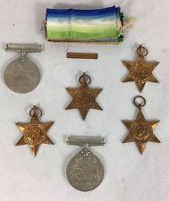 Genuine Royal Navy WW2 Boxed Medal Group: Africa, Atlantic & Burma Star 1942-43