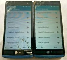 Lot of 2 - LG Tribute 2 Boost Mobile Sprint LS665 - Cracked Good LCD Check IMEI