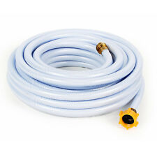 White Drinking Water Safe Hose 50ft 1/2in Lead Free Camper RV Trailer Accessory
