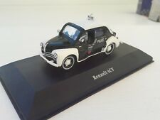 Police Cars. Renault 4 Cv. 1/43 Die Cast with Box