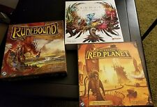 Board Game Lot Ashes Runebound Red Planet nm