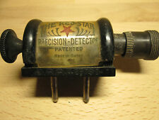 1 detektorempfänger # RED STAR PRECISION DETEKTOR CRYSTAL RADIO 1920's BADEN