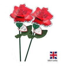 2x SELF INFLATING ROSE Valentine Balloons Decoration Decor Birthday Love Gift UK