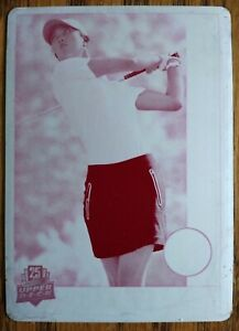 Michelle Wie 2014 Upper Deck 25th Anniversary Magenta Printing Plate One-Of-One