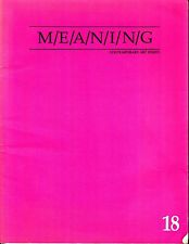 M/E/A/N/I/N/G Meaning Contemporary Art Issues #18 November 1995 Susan Bee