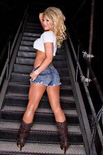 BEAUTIFUL TNA KNOCKOUT TARYN TERRELL 8X10 PHOTO W/BORDERS WWE