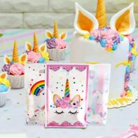 10pcs Unicorn Plastic Gift Bags Candy Bag Disposable Bags Birthday Party Favors