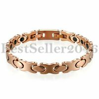 Womens Tungsten Carbide Magnetic Therapy Link Bracelet for Arthritis Pain Relief