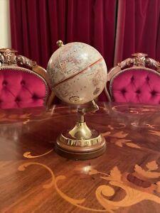 Rare Thomas Blakemore Replogle Globe On Brass And Wood Stand
