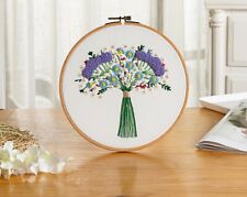 Usa Needlework for Beginners Adults Cross Stitch Kit Hand Embroidery With hoop 6
