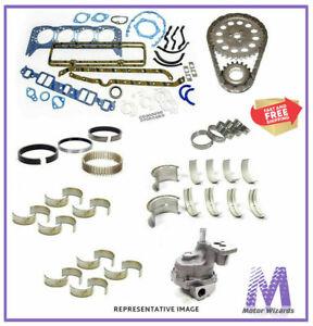 MERCRUISER 140 OMC GM 3.0 Marine Engine Rebuild Kit Bearings+Timing+Oil Pump 2PC