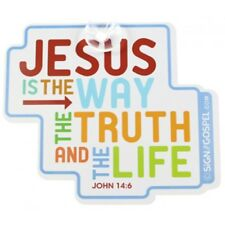 JESUS IS THE WAY - Baby On Board Type Christian Car Sign/sticker