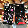Shockproof Cute Space Cool Planet Alien Rubber Soft Case For iPhone XS MAX XR 6