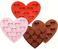 Heart shape Silicone Mould large 10 hearts candy chocolate
