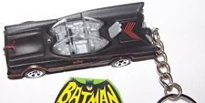 "CUSTOM MADE..BATMAN ""BATMOBILE"" T.V. SERIES (SATIN BLACK) KEYCHAIN..GREAT GIFT"