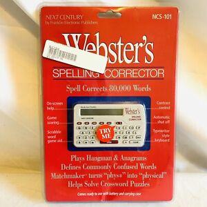 Franklin Webster's Spelling Corrector NCS-101 Vintage NOS SEALED 1994 80k Words