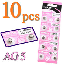 10x AG5 LR750 LR754 LR48 393A 1.55V Volt Button Coin Cell Battery for Watch Toys