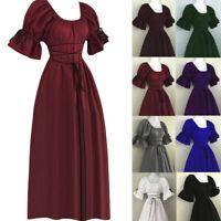 Women's Vintage Dress Short Petal Sleeve Stylish Evening Empire Ball Long Dress