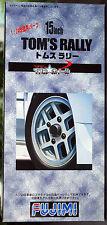Fujimi 193083 Felgen Tom´s Rallye 15 Zoll inkl. Gelände-Reifen, 1:24