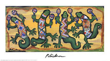 Gecko Maracas Band by Donna Polivka Mexican Western Open Edition Fine Art Print