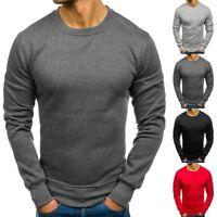 Men Slim Fit Muscle Tee T-shirt Casual Top Blouse Sport Crew Neck Sweatshirt