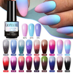 LILYCUTE Thermal Gel Polish Soak Off UV LED Color Changing Gel Nail Art Varnish