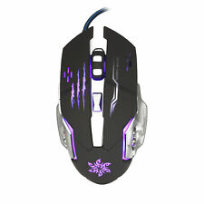Gaming Mouse USB Optical 3200 Dpi 6 Buttons Wired Mice for Gamer Computer LED
