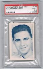 1952-53 Juniors Blue Tint Hockey Card Galt #178 Ralph Markarian Graded PSA 7.5