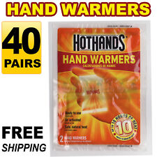 40 Pairs (80 pcs) HotHands Hand Warmers Safe Natural Odorless Heat Free Shipping