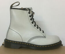 DR. MARTENS 1460  WHITE + BLACK  CRSTAL SUEDE LEATHER  BOOTS SIZE UK 3