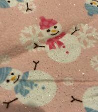 Cute Pink Snowman Nursing pillow cover.  Fits Boppy Pillow