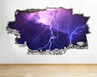 Wall Stickers Black Hole Space Nebula Canvas 3D Smashed Hole Vinyl Room A207